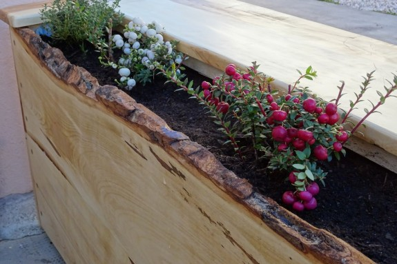 jardinière en bois érable