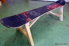 Banc Snowboard recyclé