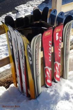 Poubelle d'extérieur Ski
