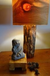 Lampe en bois / Support déco