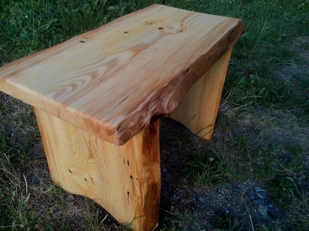 Table appoint rustique en bois massif