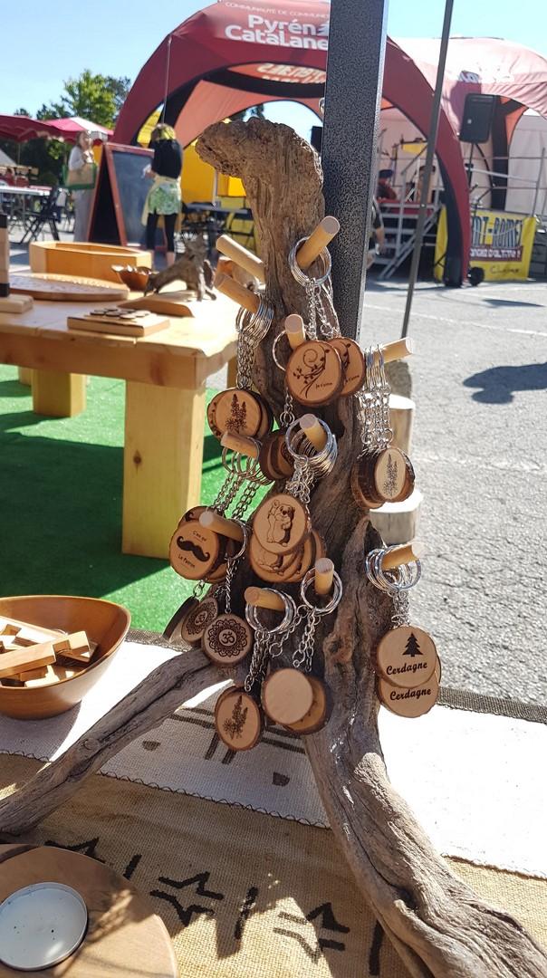 Porte clés en bois personnalisables