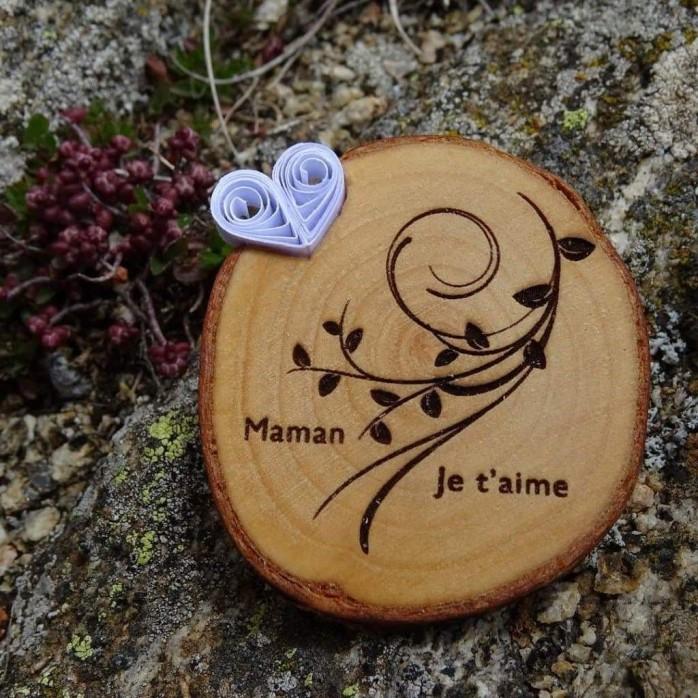Magnet personnalisable Bois et Quilling