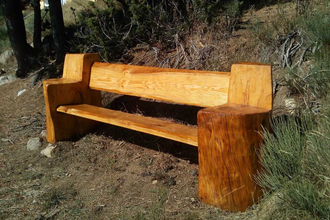 banc en tronc bois massif