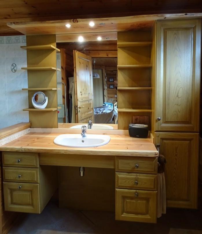 Rénovation salle de bain en bois massif